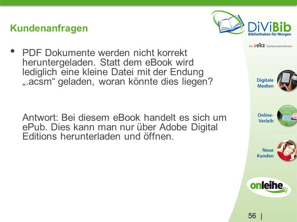 56 | Kundenanfragen PDF Dokumente werden nicht korrekt heruntergeladen.