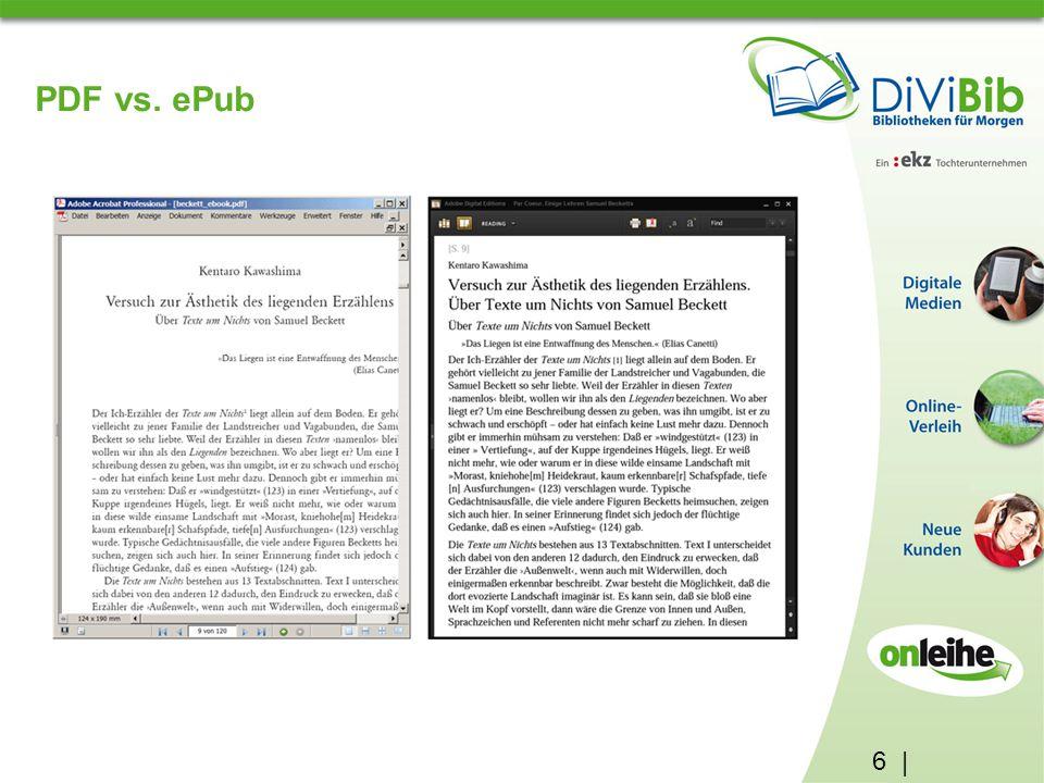 6 | PDF vs. ePub