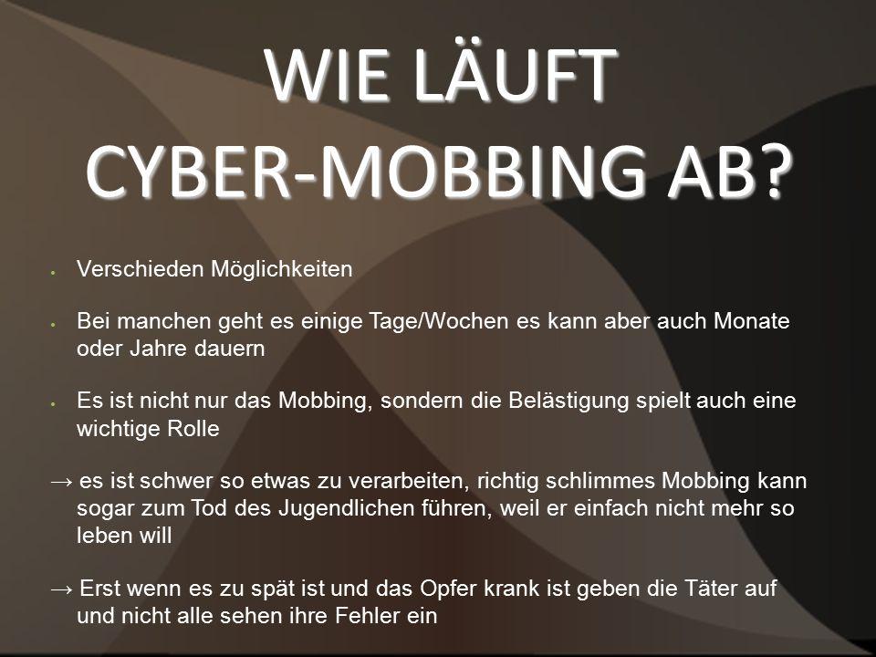 WIE LÄUFT CYBER-MOBBING AB.