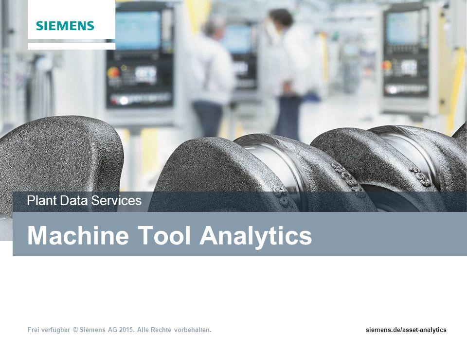 Frei verfügbar © Siemens AG 2015.