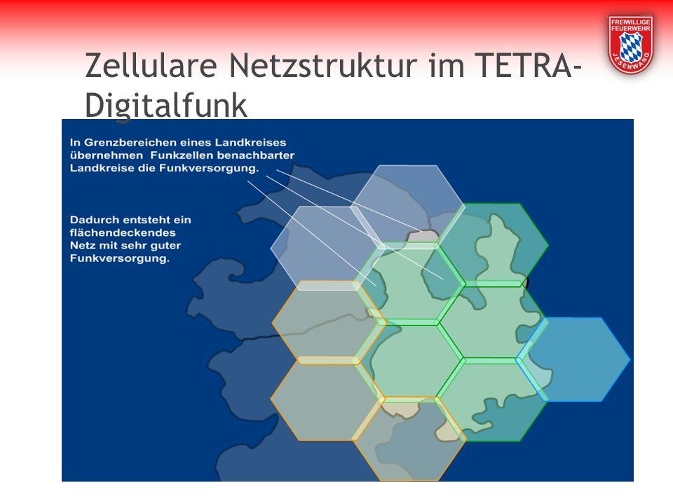 Zellulare Netzstruktur im TETRA- Digitalfunk