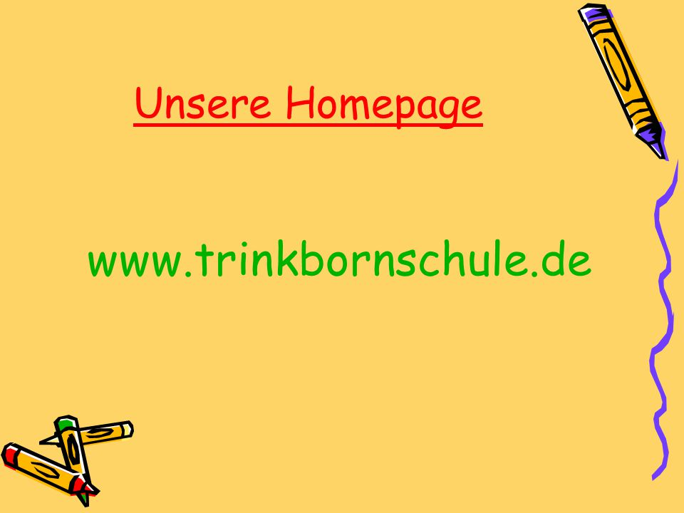 Unsere Homepage www.trinkbornschule.de