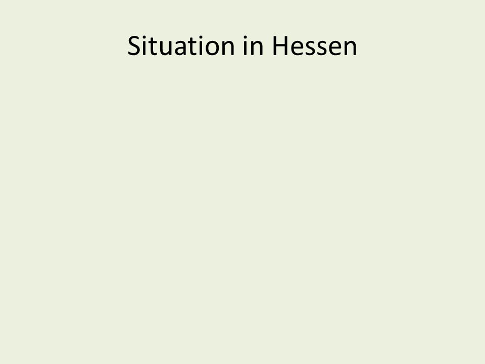 Situation in Hessen