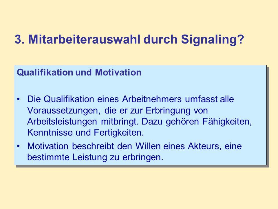 Qualifikation und Motivation Die Qualifikation eines Arbeitnehmers umfasst alle Voraussetzungen, die er zur Erbringung von Arbeitsleistungen mitbringt.