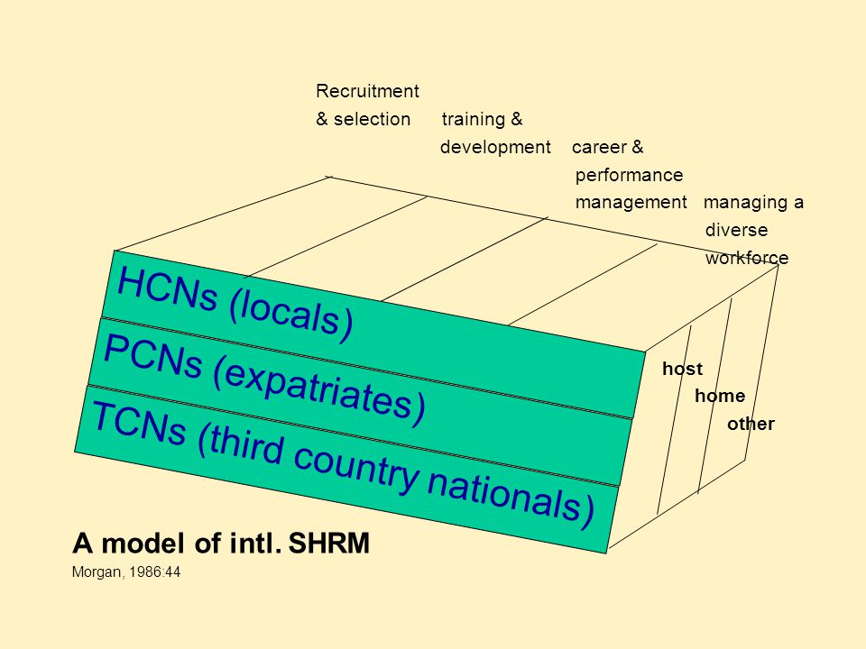 Recruitment & selection training & development career & performance management managing a diverse workforce host home other A model of intl. SHRM Morg