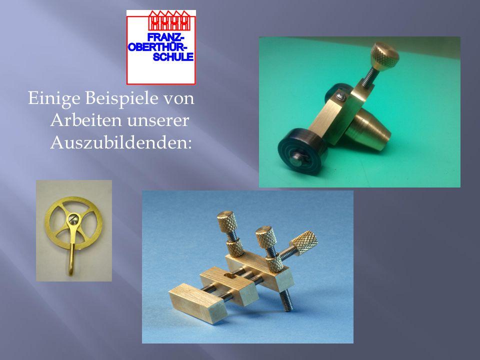 """Seit Januar 2006 ist die """"Bayerische Meisterschule für das Uhrmacherhandwerk auch unter dem Dach der Franz-Oberthür-Schule untergebracht."""