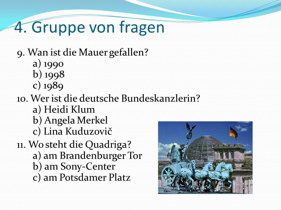5.Gruppe von fragen 1. Was ist Berlin heute.
