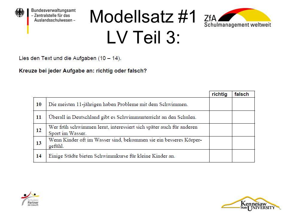 Modellsatz #1 LV Teil 3: