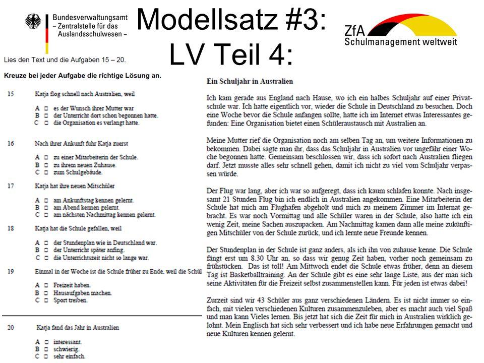 Modellsatz #3: LV Teil 4: