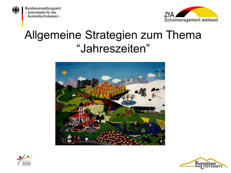 """Allgemeine Strategien zum Thema """"Jahreszeiten"""""""