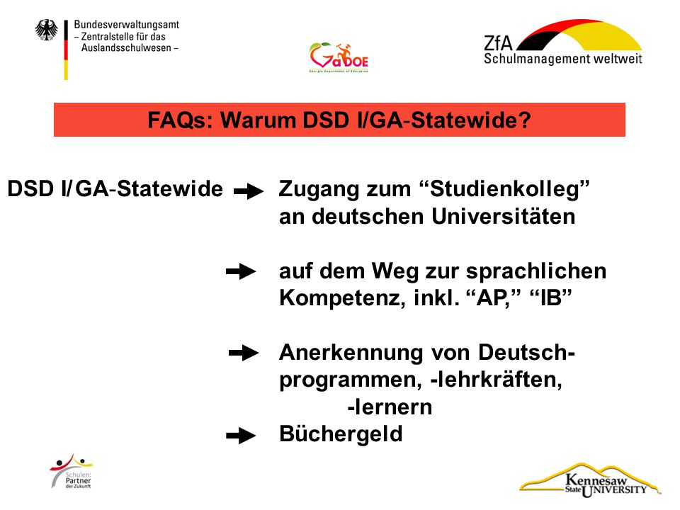"DSD I/GA-Statewide A2/B1 ""Common European Framework of Reference (CEFR) und DSD I/GA-Statewide"
