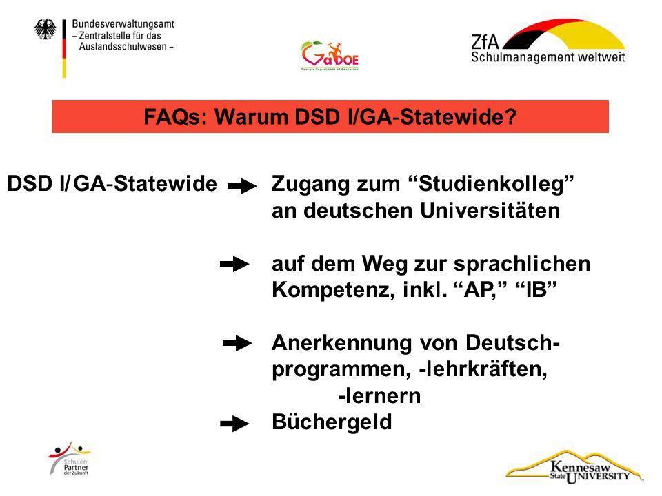 """DSD I/GA-Statewide Zugang zum """"Studienkolleg"""" an deutschen Universitäten auf dem Weg zur sprachlichen Kompetenz, inkl. """"AP,"""" """"IB"""" Anerkennung von Deut"""