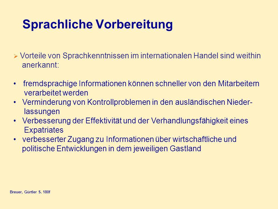 Sprachliche Vorbereitung Breuer, Gürtler S.