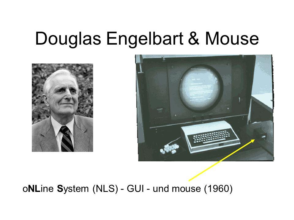Douglas Engelbart & Mouse oNLine System (NLS) - GUI - und mouse (1960)