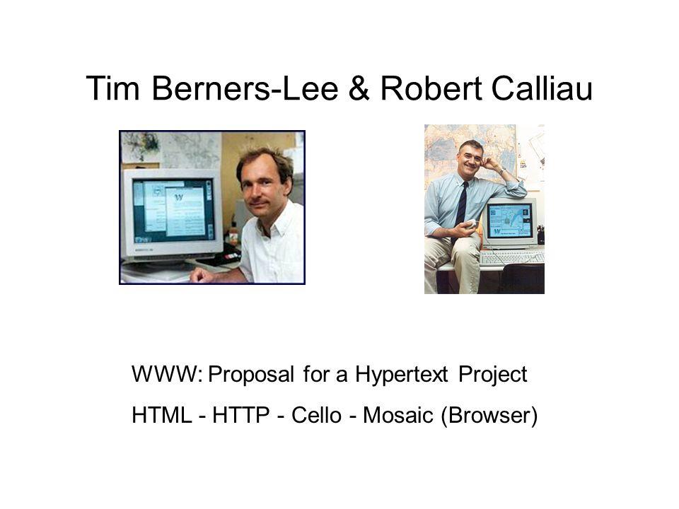 Marc Andreessen & Eric Bina Entwicklung des Browsers Mosaic (noch ohne Andreessen) Vermarktung des Browsers Netscape (mit A.)