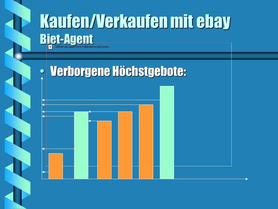 Kaufen/Verkaufen mit ebay Biet-Agent Verborgene Höchstgebote:Verborgene Höchstgebote: