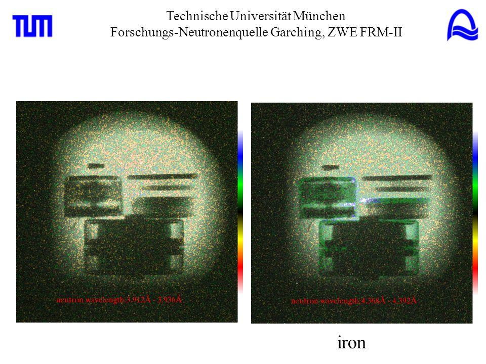 Technische Universität München Forschungs-Neutronenquelle Garching, ZWE FRM-II iron