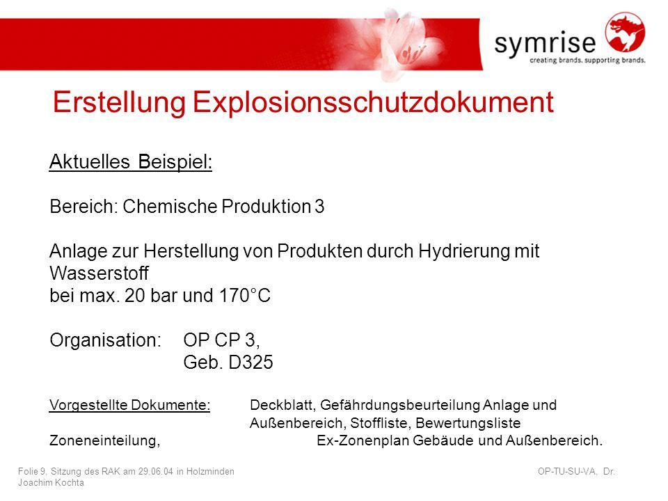 Folie 10, Sitzung des RAK am 29.06.04 in Holzminden OP-TU-SU-VA, Dr.