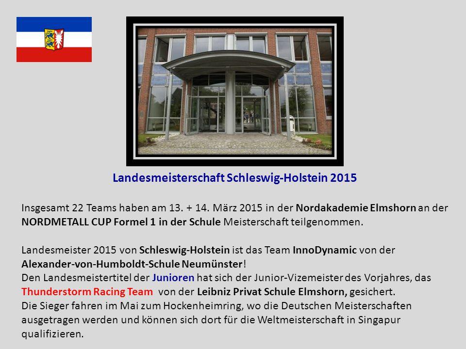 Landesmeisterschaft Schleswig-Holstein 2015 Insgesamt 22 Teams haben am 13.