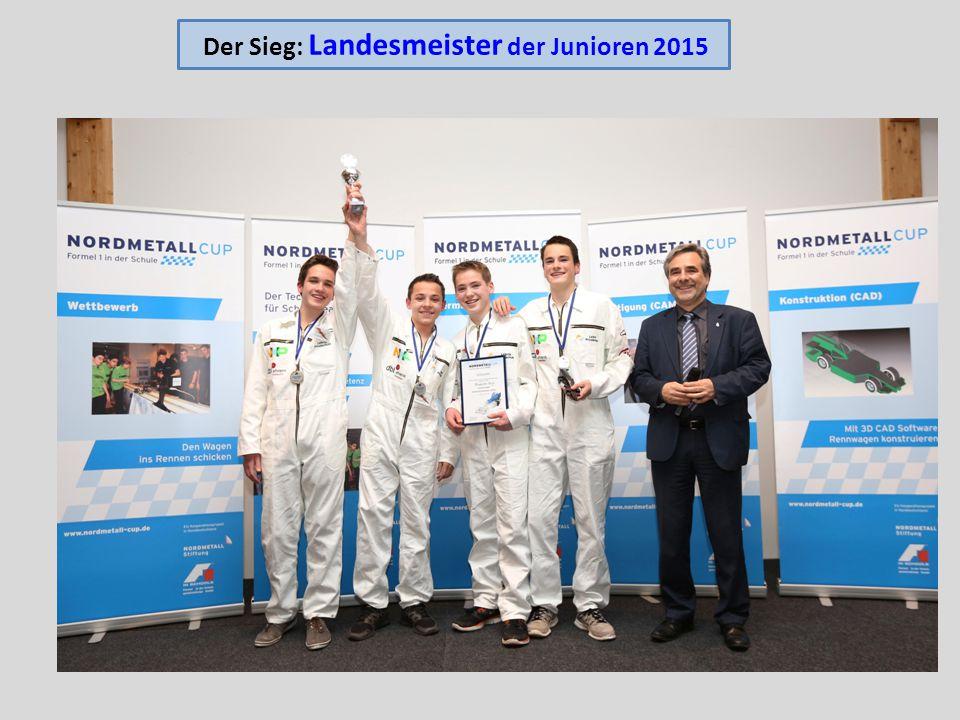Der Sieg: Landesmeister der Junioren 2015