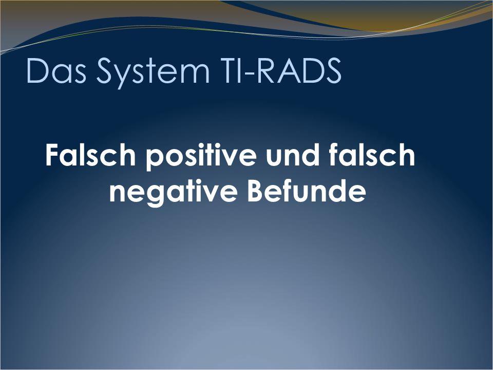 TIRADS 3 und SD-Karzinom TI-RADS 3: Malignitätswahrscheinlichkeit deutlich < 2% (0.25%) Die häufigsten falsch negativen Diagnosen sind aber Tumoren der Kategorie TI-RADS 3