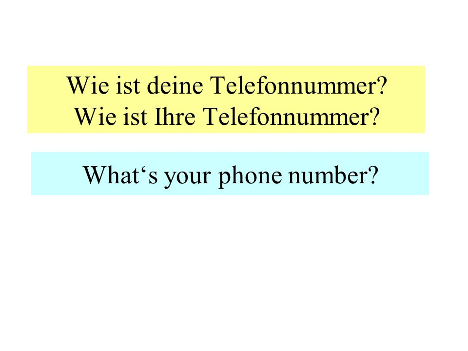 Wie alt ist.... How old is...