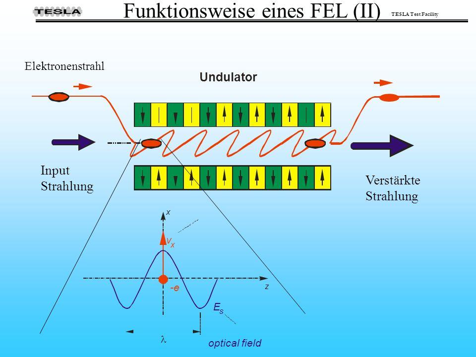 TESLA Test Facility Funktionsweise eines FEL (II)