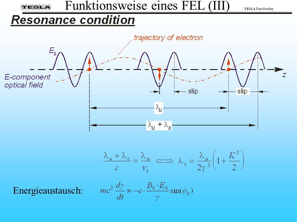 TESLA Test Facility Energieaustausch: Funktionsweise eines FEL (III)