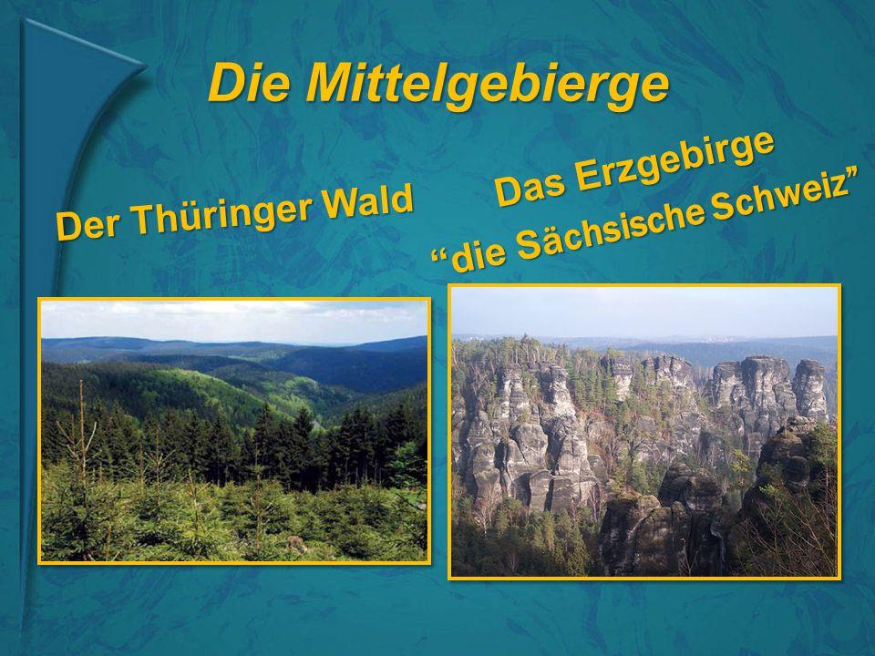 """Die Mittelgebierge Der Thüringer Wald Das Erzgebirge """"die S ächsische Schweiz"""""""