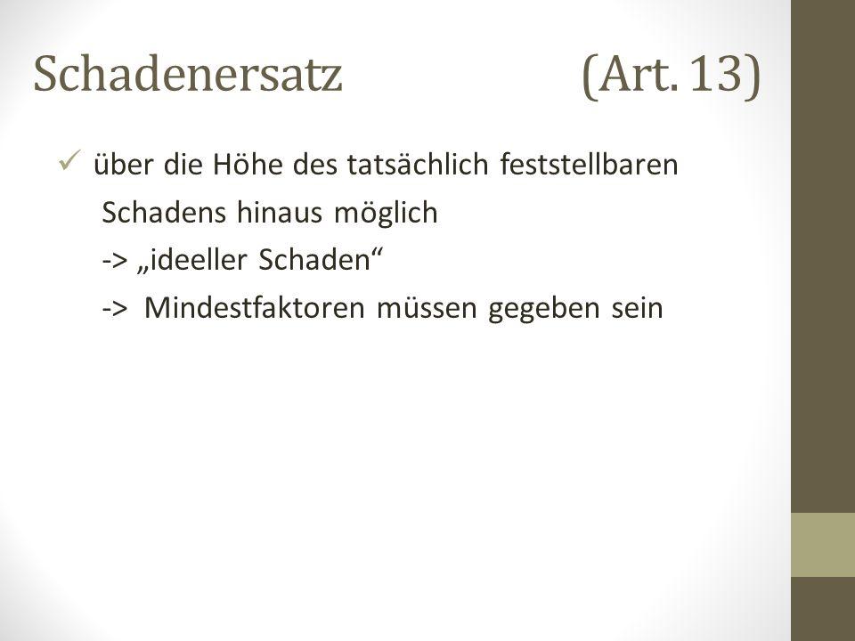 Schadenersatz (Art.