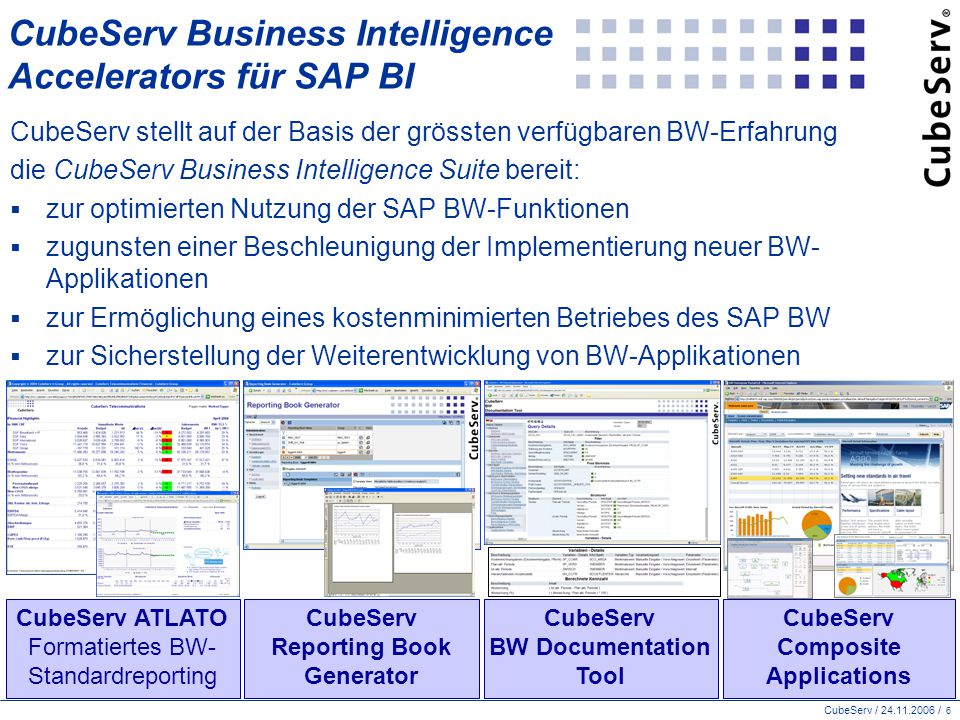 CubeServ / 24.11.2006 / 17 Tipps zur Vorgehensweise bei Business-Intelligence-Projekten  Projektauftrag: Auf Zuruf.