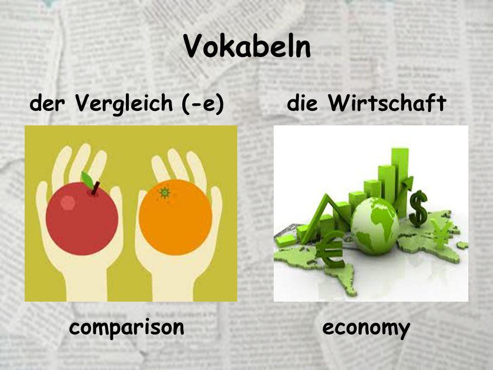 Vokabeln der Vergleich (-e)die Wirtschaft comparisoneconomy