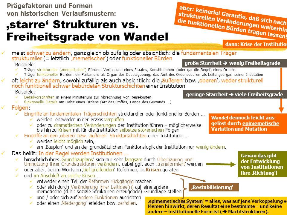 TU Dresden – Institut für Politikwissenschaft – Prof. Dr. Werner J. Patzelt 'starre' Strukturen vs. Freiheitsgrade von Wandel meist schwer zu ändern,