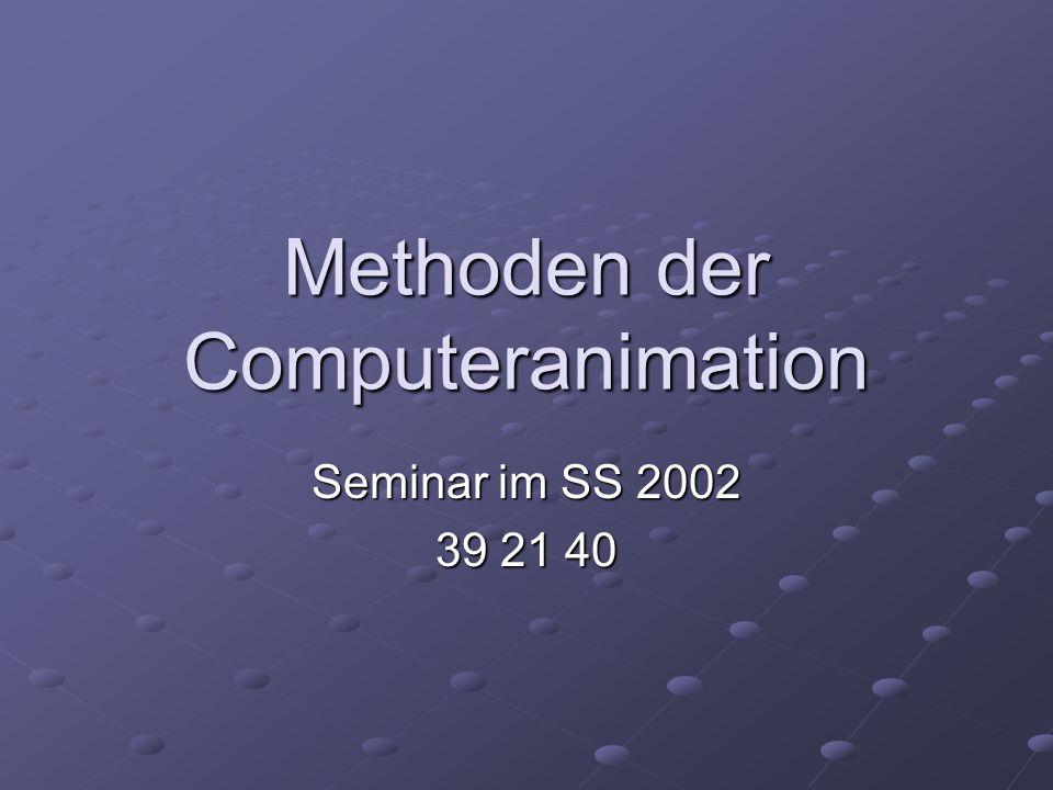 Methoden der Computeranimation Seminar im SS 2002 39 21 40