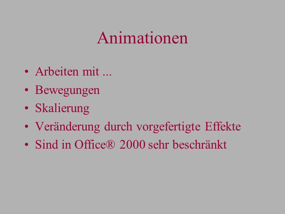 Animationen Arbeiten mit...