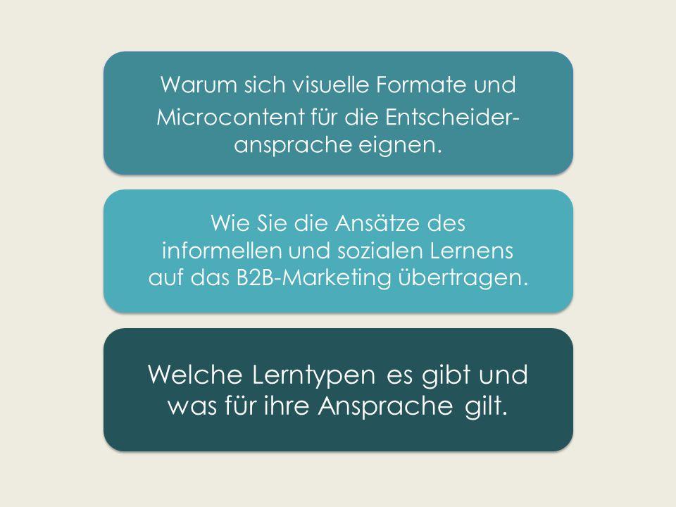Warum sich visuelle Formate und Microcontent für die Entscheider- ansprache eignen.