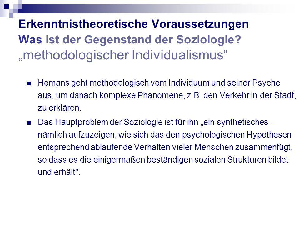 Erkenntnistheoretische Voraussetzungen Was ist der Gegenstand der Soziologie.