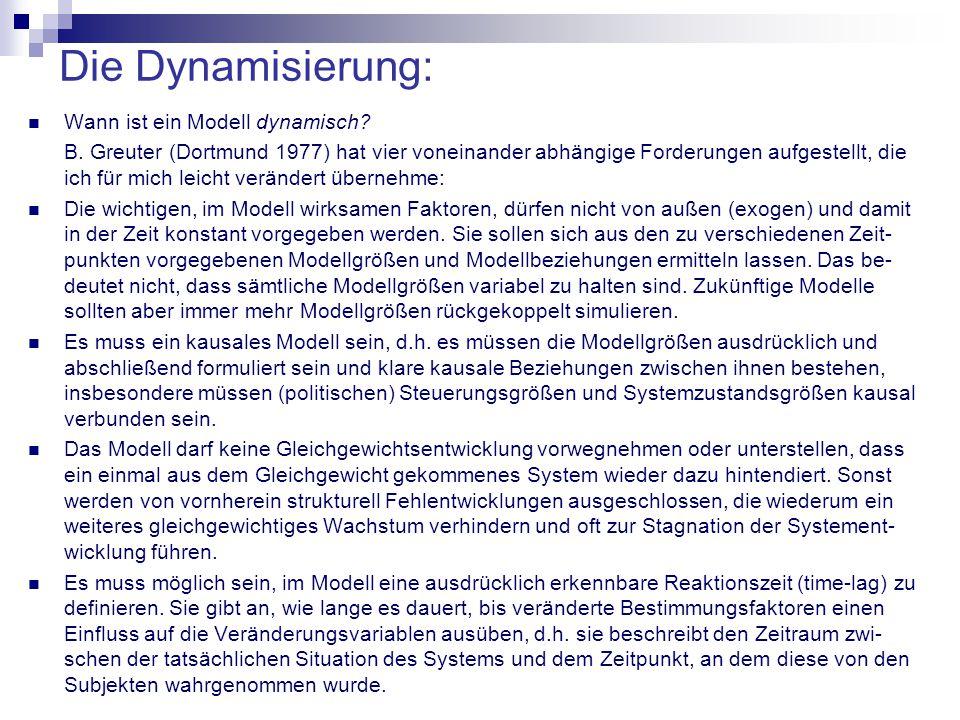 Die Dynamisierung: Wann ist ein Modell dynamisch.B.
