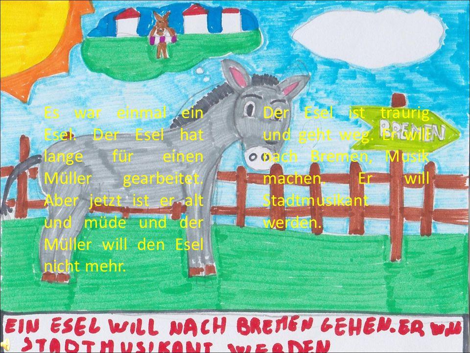 Es war einmal ein Esel. Der Esel hat lange für einen Müller gearbeitet.