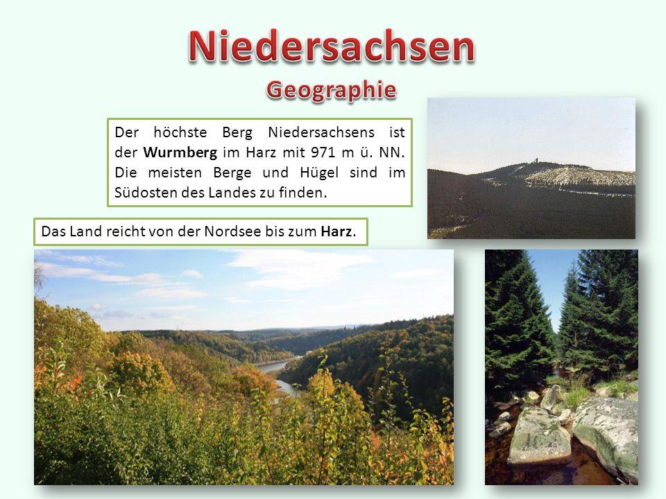 Der höchste Berg Niedersachsens ist der Wurmberg im Harz mit 971 m ü.