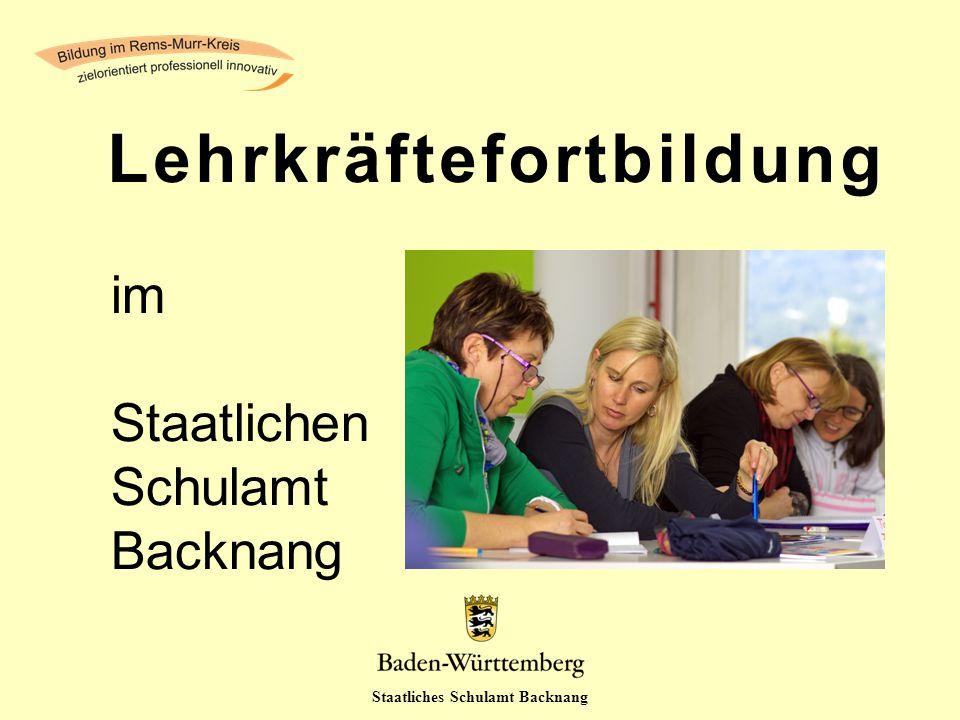 Staatliches Schulamt Backnang im Staatlichen Schulamt Backnang Lehrkräftefortbildung