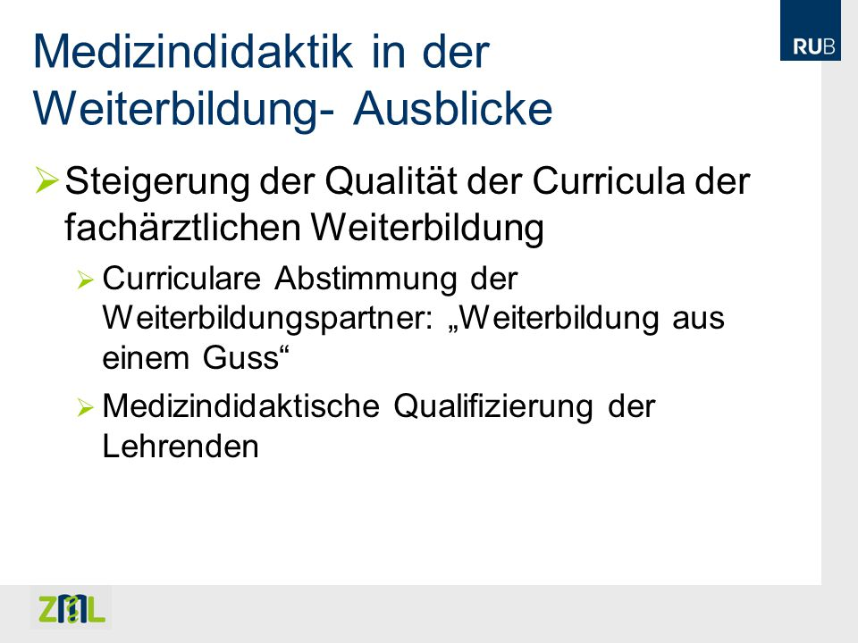 Das Zertifikat Medizindidaktik NRW