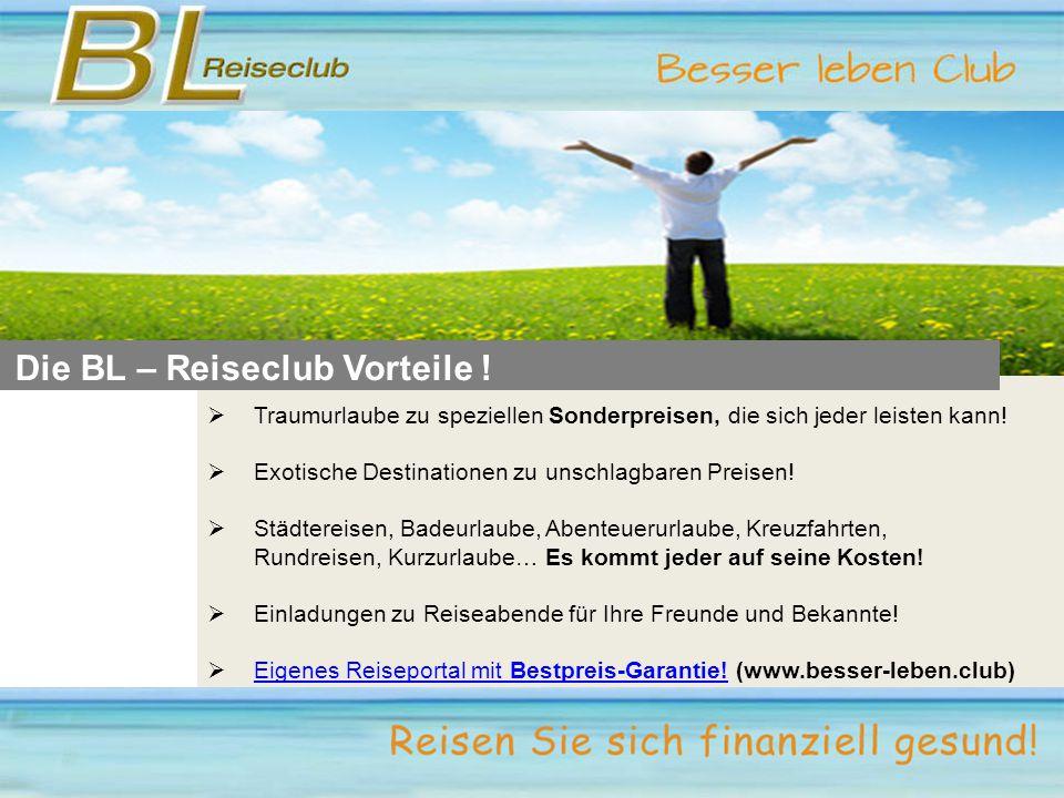Die BL – Reiseclub Vorteile .