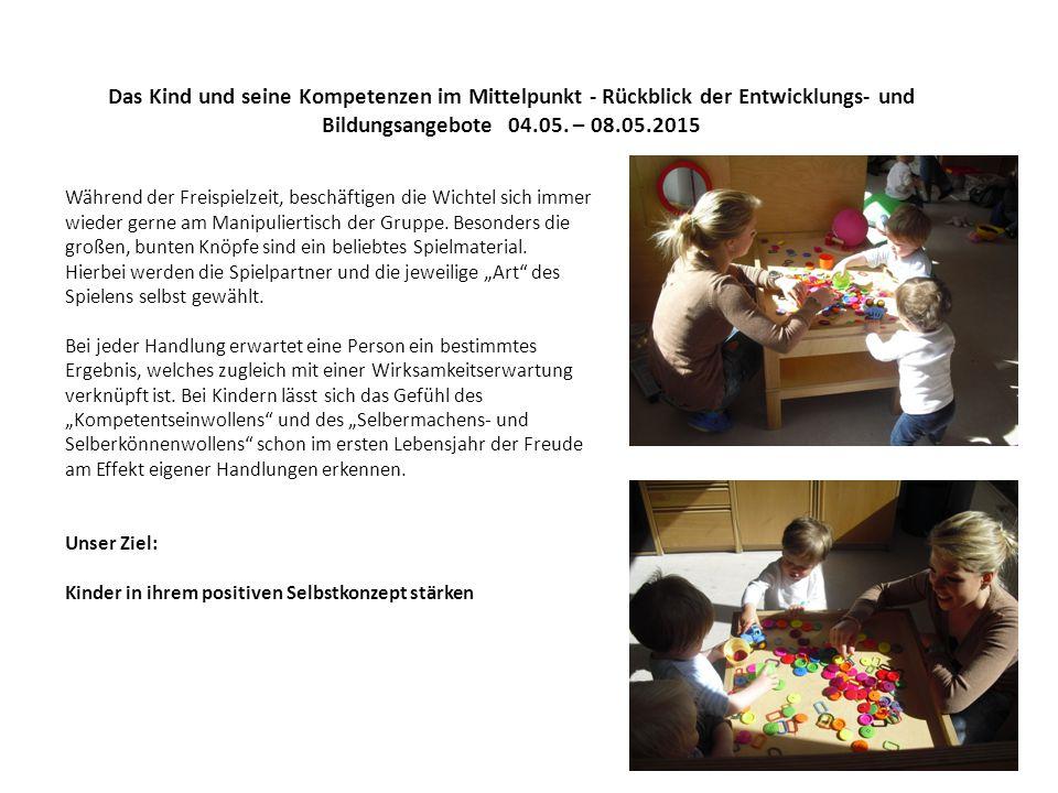 Das Kind und seine Kompetenzen im Mittelpunkt - Rückblick der Entwicklungs- und Bildungsangebote 04.05.