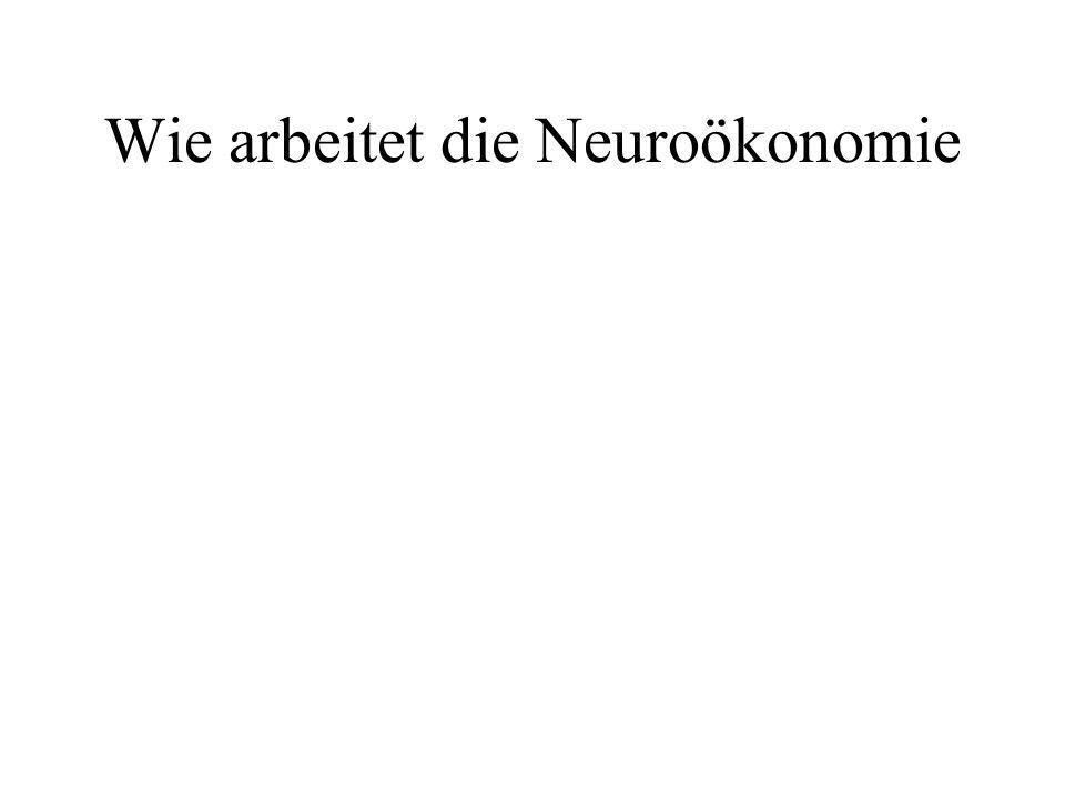 Wie arbeitet die Neuroökonomie