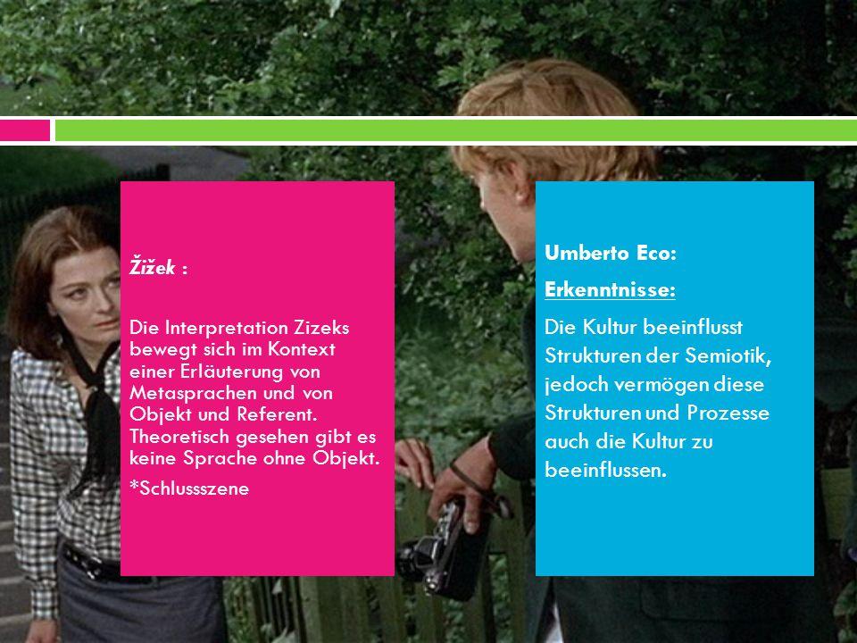Žižek : Die Interpretation Zizeks bewegt sich im Kontext einer Erläuterung von Metasprachen und von Objekt und Referent.