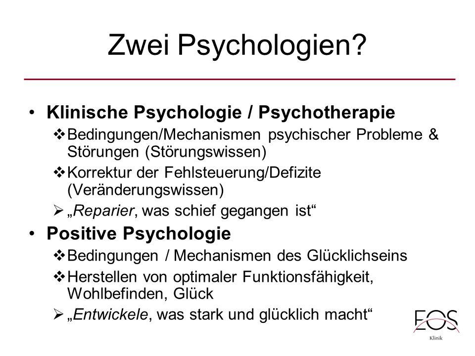 Zwei Psychologien.