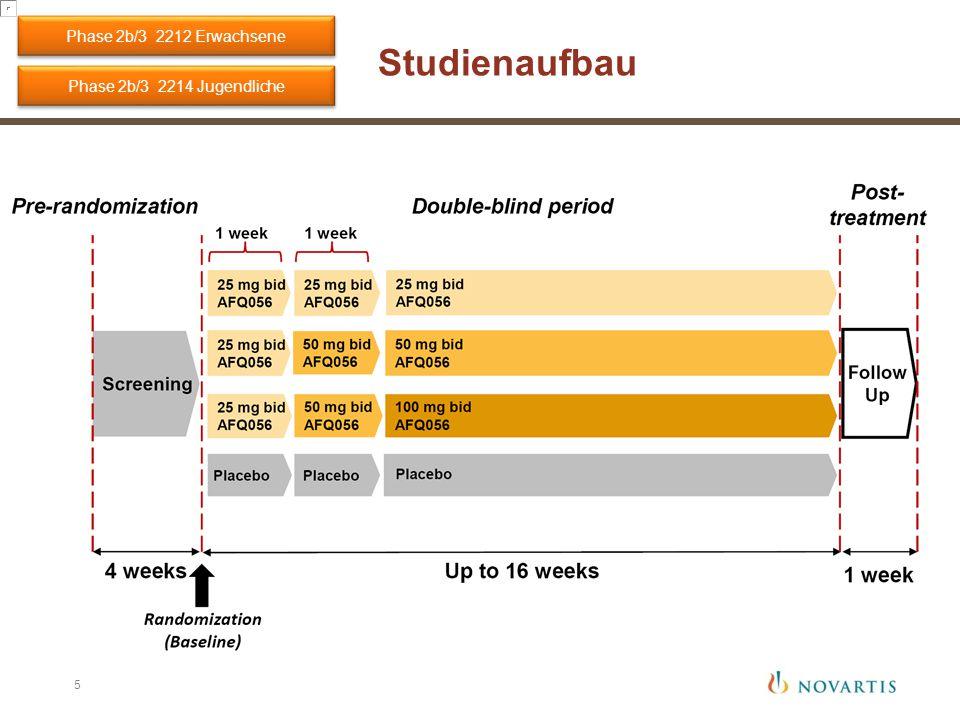 Studienaufbau Phase 2b/3 2214 Jugendliche Phase 2b/3 2212 Erwachsene 5