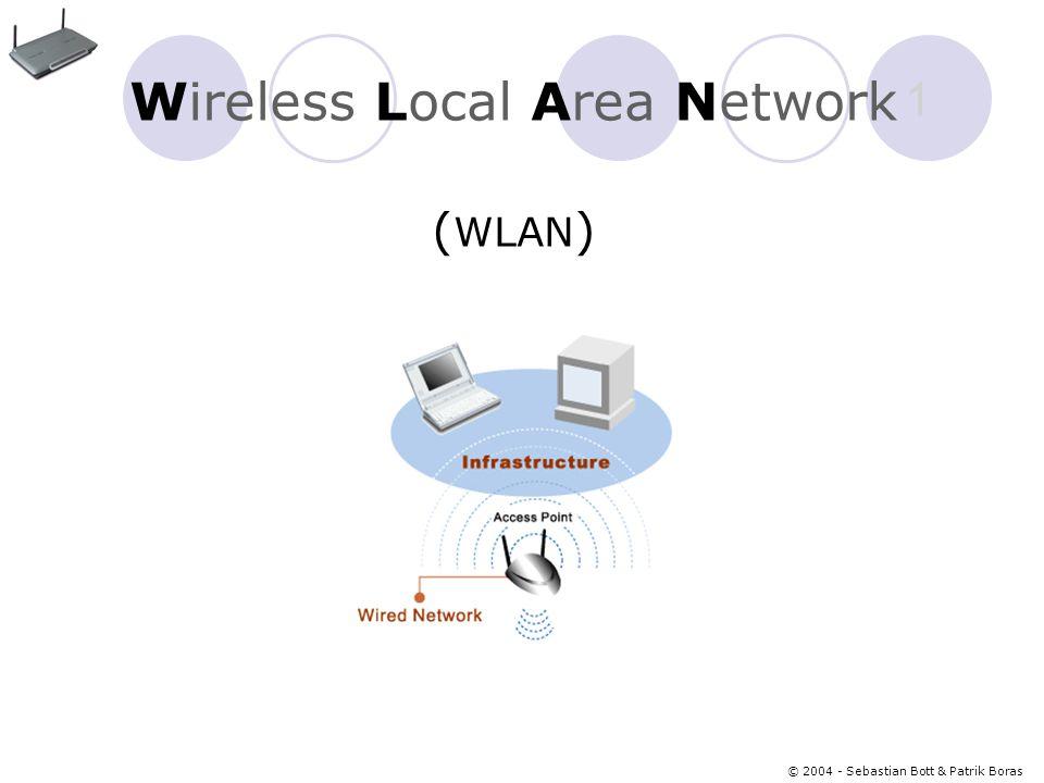 © 2004 - Sebastian Bott & Patrik Boras 1 Wireless Local Area Network ( WLAN )