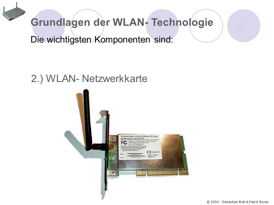 © 2004 - Sebastian Bott & Patrik Boras 25 © 2004 - Sebastian Bott & Patrik Boras 25 Das BT-Dongle Grundlagen der Bluetooth- Technologie Die wichtigsten Komponenten sind: